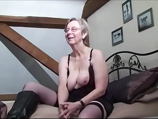 Breasted grandma anal fucked..