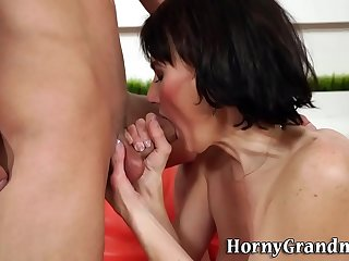 Pussy licked granny gobbles..