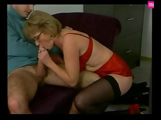 Mature Secretary Pleases in..