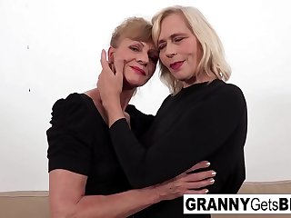 A couple of horny grannies..