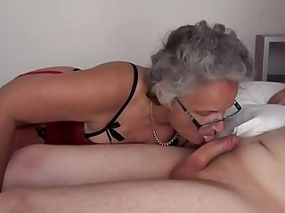Grey haired Granny fucked by..