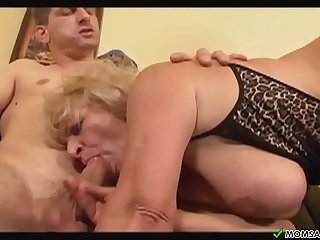two guys fuck the granny