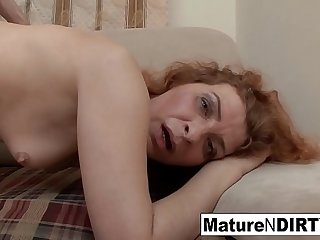 Redheaded mature gets fucked..