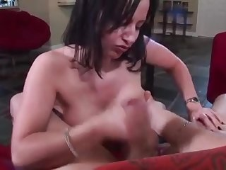 stepmom gives a hand help to..