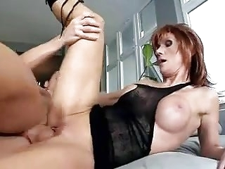 Older Redhead wearing Boots..