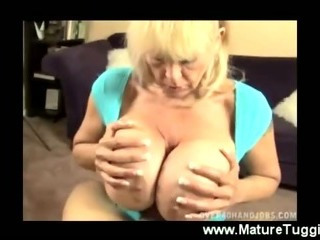 Mom squeezes dick between..