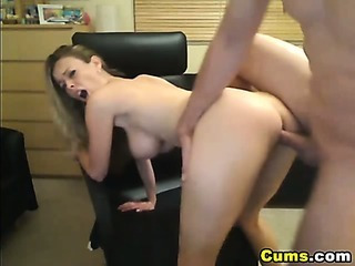 Busty Blond Wife Sucks and..