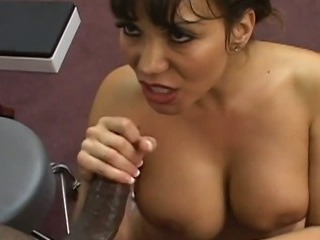 Big tits Asian enjoying some..