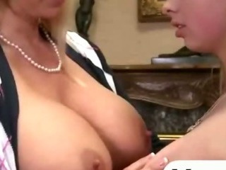 Big titted blonde mother and..