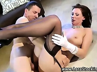 Lingerie whore banged cumshot