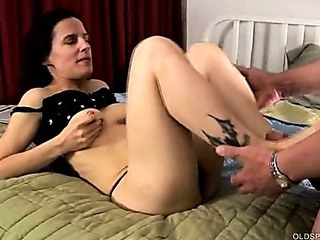 Sexy mature foot fuck and..