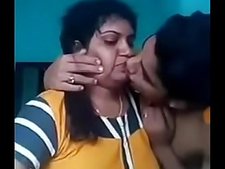 Indian mom and son boy