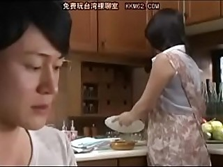 Japanese mom and Son in..