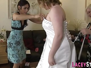 Lesbian gran and bride with..