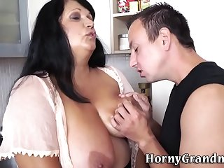 Titfucking busty granny gets..