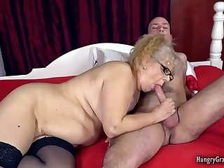 Busty granny cant resist a..