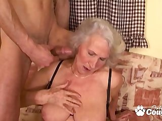 Granny Spreads Her Saggy Old..